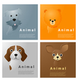 Animal portrait collection with dogs 1 vector image