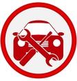 car service icon vector image