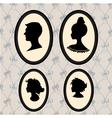 Family portrait silhouettes vector image