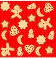 gingerbread man seamless pattern vector image