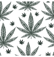 Hemp Cannabis Leaf seamless pattern vector image