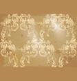 luxury baroque paper ornament victorian vector image