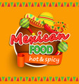 Mexican food label vector image