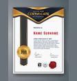 multipurpose professional certificate template vector image