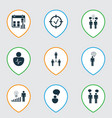 set of 9 executive icons includes decision making vector image