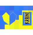 Ukraine flag in polygonal style vector image