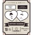 Wedding invitation Vintage card the template vector image