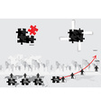 Business concept with businessman graph puzzle and vector image