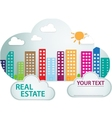 Banner with real estate in cloud vector image