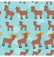 Set of funny animals with cubs Goats seamless vector image