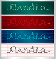 Stylized cardiogram lettering set vector image