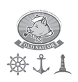 old sailor vector image vector image