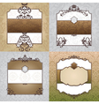 set of abstract decorative vintage frames vector image vector image