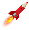 Red pencil as flying rocket vector image