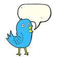 cartoon bluebird with speech bubble vector image