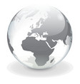 Transparent globe of Europe vector image