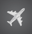 airplane sketch logo doodle icon vector image