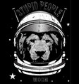 animal astronaut suit hand drawn vector image