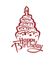 birthday cake image vector image
