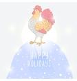 bright cock vector image