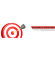 business strategy banner with a game of darts vector image