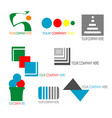 collection of colorful business logo template vector image
