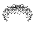 Isolated pattern with floral lace ornament for vector image