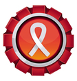 red award with breast cancer sign vector image