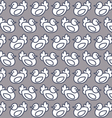 seamless pattern chicken vector image