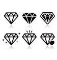 Diamond icons set vector image