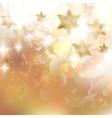 Beautiful golden christmas stars on a golden bokeh vector image