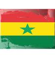 ghana national flag vector image vector image