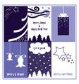 Blue Christmas gift tags vector image