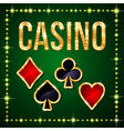 Casino poker vector image