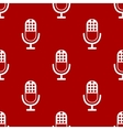 Microphone icon pattern vector image vector image