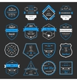 Set Retro Skateboarding Logo and Badge vector image