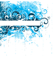 blue floral background vector image vector image