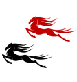equestrian sports logo vector image