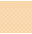 Tile pattern white polka dots on coral background vector image vector image