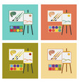 assembly flat icons drawing lesson vector image
