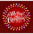 Christmas Lights Frames with vector image