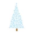 christmas pine tree snowflakes winter vector image