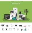 Electronics flat banner vector image