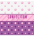Pattern candies on a pink background vector image