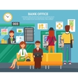 People Inside Bank Office Design Concept vector image