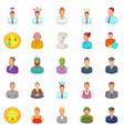 population icons set cartoon style vector image