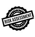 risk assessment rubber stamp vector image