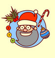santa claus icon merry christmas and happy new vector image
