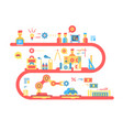 strategy design flat concept vector image