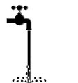 Water pipe vector image